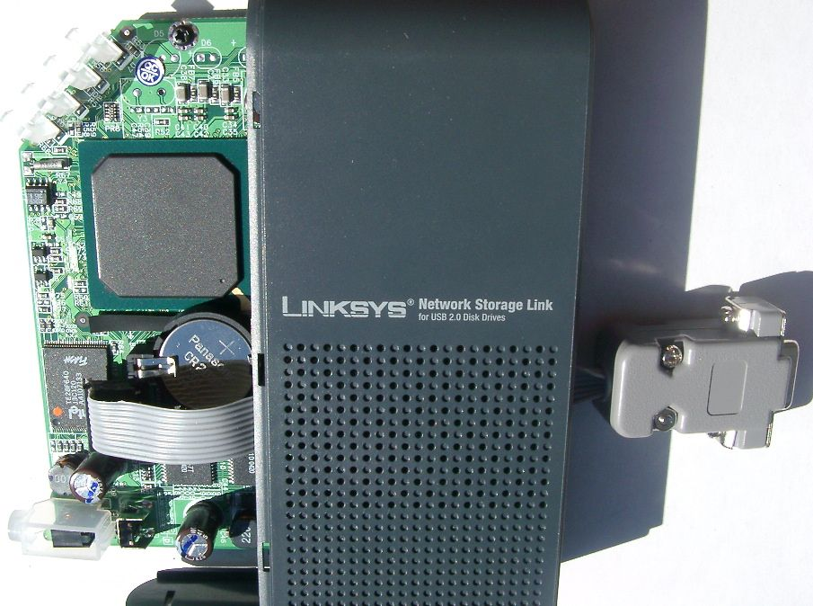 Linksys NSLU2 Serial Port Mod